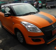 SUZUKI SWIFT_FULL WRAP ORANGE MATTE