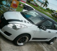 SUZUKI SWIFT Half Wrap Black Matte คาดลาย Racing