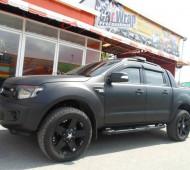 Ford ranger 3.2 full wrap black matte ดุ ดิบ โหด (7 รูป)
