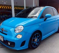 Fiat500 full wrap light blue with Oracal 651 053G