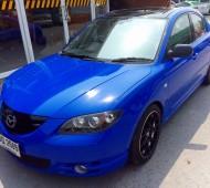 Mazda3 full wrap reflex blue gloss film