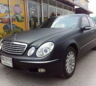 Benz W211 full wrap black matte