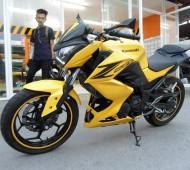 Ninja 250 Full Wrap Yellow Jaune Z250 Japan Style
