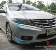 Honda City Full Wrap Silver Grey With Oracal
