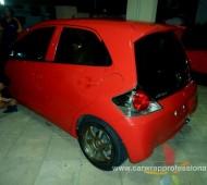 Honda brio FULL WRAP Red Gloss โดย Rangsonaon