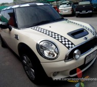 MINI COOPER Stripes Viper and Wrap Carbon Fiber 5D Mirror