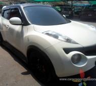 Nissan Juke Half Wrap Black Matte