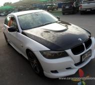 BMW E90 Full Wrap สีขาว ใสๆ ทั้งคัน กับฟิล์มหลังคาแก้ว