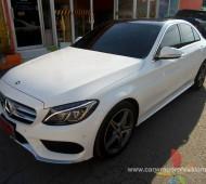 Benz C 300 Full Wrap Gloss White 3M1080