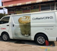 """COFFEE WORK"" WRAP TOYOTA HIACE"