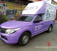 "Zen Innovation"" Project Wrap งานติดรถเพื่อการโฆษณา และการตลาด Veh"