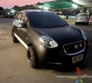 Nissan March Full Wrap Black Matt