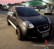 Nissan March Full Wrap Black Matt