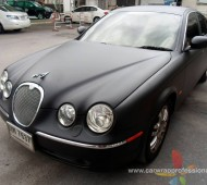 Jaguar S-Type Full Wrap Black Matte