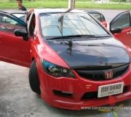 HONDA CIVIC RED GLOSS & BLACK GLOSS