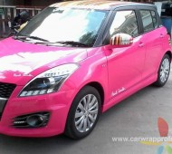 SUZUKI SWIFT FULL WRAP PINK