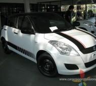 Suzuki Swift half wrap black gloss + คาดลาย